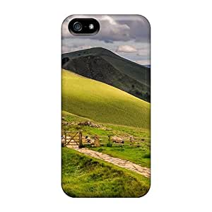 Charming YaYa Premium Protective Hard Case For Iphone 5/5s- Nice Design - Path Through Hilly Sheep Pasture In Engl