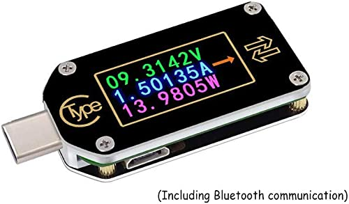 Acxico 1Pcs TC66 TC66C Type-C Bluetooth PD Trigger Color Digital LCD Display USB Tester Voltage Current Power Meter
