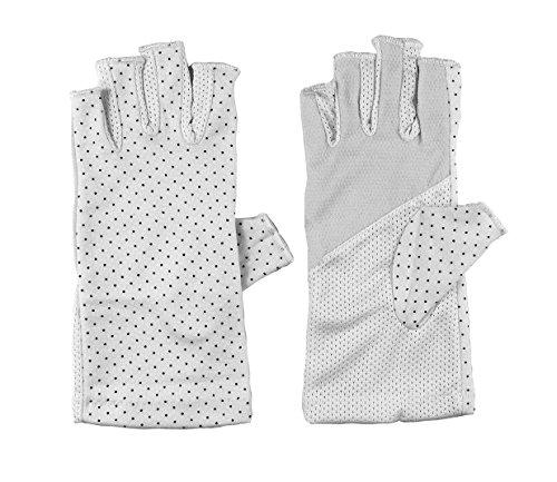 Girls Wedding Cotton Gloves Smartphone Dress Stretch Gloves UPF 50+ Sun Protective Glove One Size Grey (Stretch Gloves Driving)