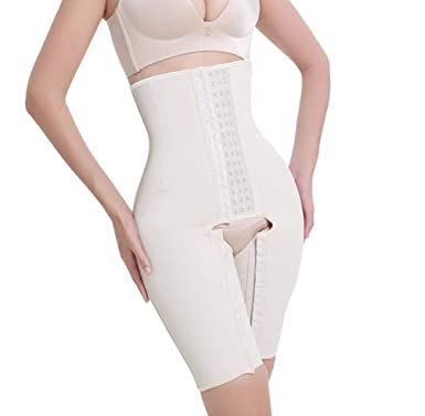 cf9844ae8cf Amazon.com  Steel Bones Latex Waist Trainer Hot Body Shapers Waist Cincher  Women Slimming Thigh Shapewear Butt Lifter  Clothing