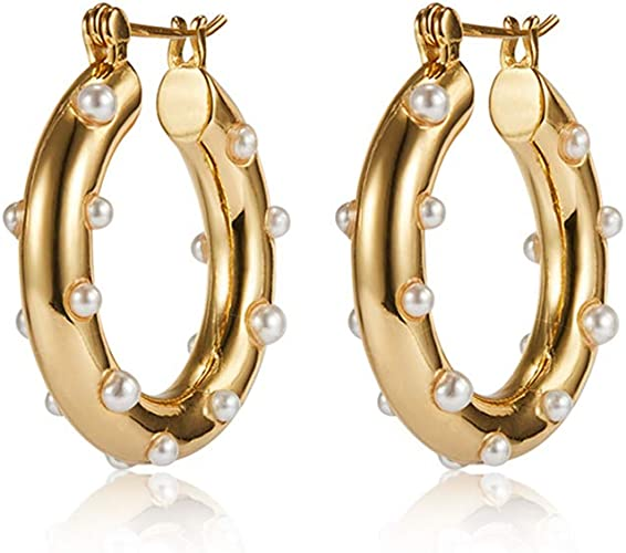 10 Gold Plated Steel 25mm Double Hoop Earring Connectors