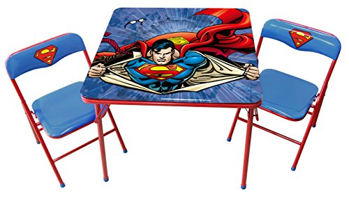 O'Kids Superman Metal Activity Table and Chair Set by O'Kids