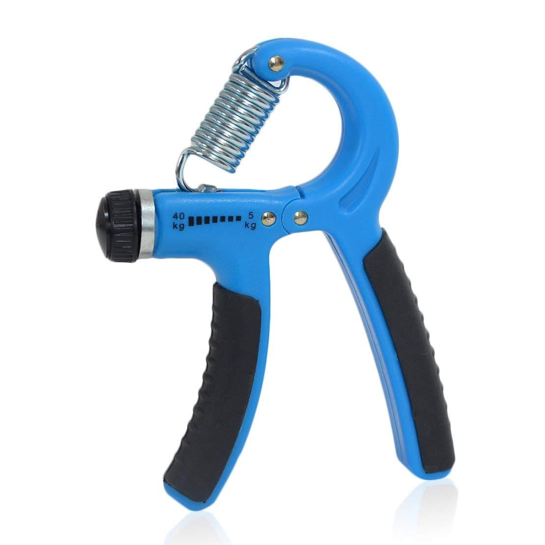 Sanzhileg Fuerza de Agarre de Mano Ajustable, lo Mejor para Entrenamiento de Dedos de muñeca Muscular - Azul lo Mejor para Entrenamiento de Dedos de muñeca Muscular - Azul