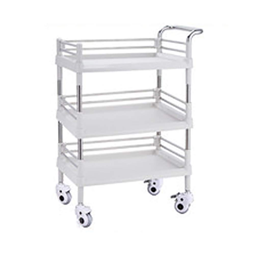 Aluminum Salon Rolling Trolley for Barber ERRU Color : Black Hairdressing Service Tray Instrument Tray Tool Storage Cart with 5 Wheels