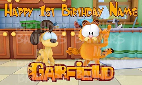 Garfield show Birthday Party Banner Personalized/Custom -