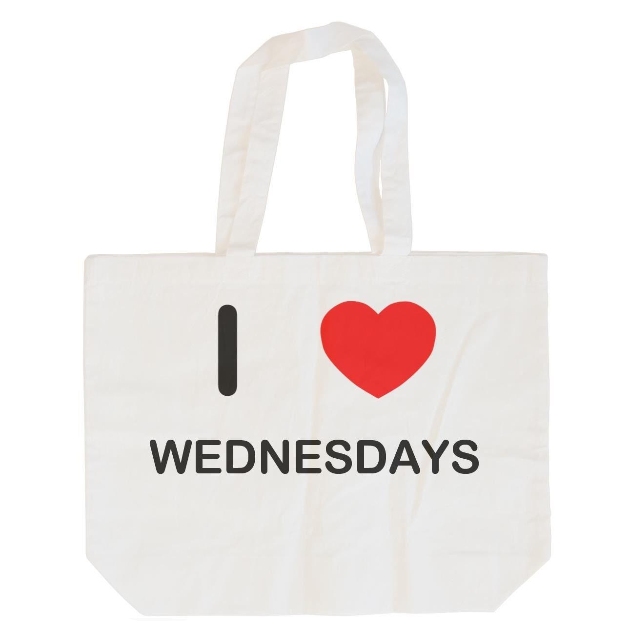 Cotton Tote Bag I Love Wednesdays