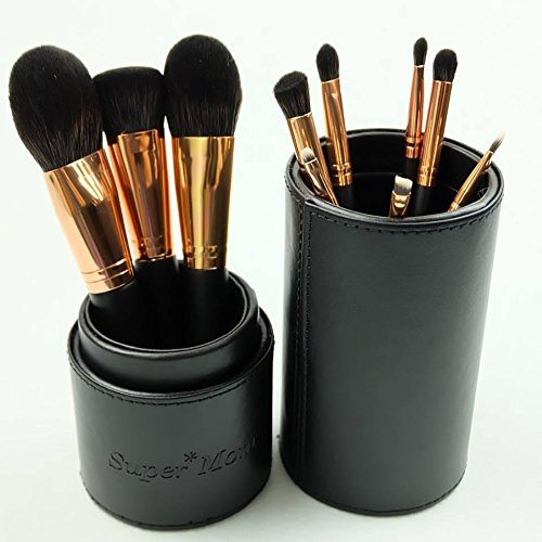 New!! Supermom the Magnificent Collection Brush Set 10 Makeup Brushes Comes with Elegant Case