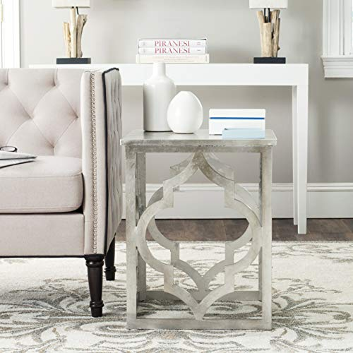 (Safavieh American Homes Collection Milo Silver Leaf Trellis End Table )