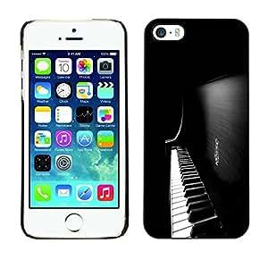 TopCaseStore / la caja del caucho duro de la cubierta de protección de la piel - Piano Keys - Apple iPhone 5 / 5S