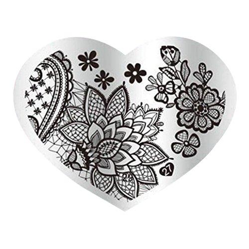 Nail Stempel Platten - TOOGOO(R)DIY Nagel-Kunst-Bild-Stempelplatten Manikuere Schablone Stanzen (27#) SODIAL(R) 074447B6