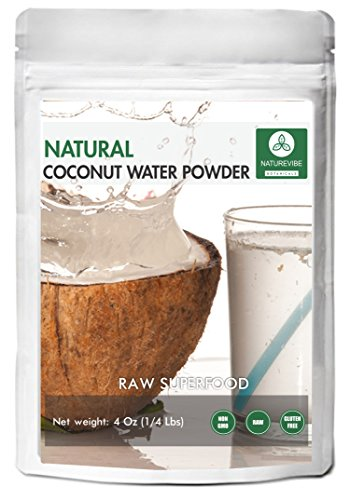 Coconut Water Powder (4oz) by Naturevibe Botanicals - 100% Natural, Clean and Pure