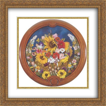 b857410041a4 Image Unavailable. Image not available for. Color  Basket of Flowers 2X  Matted 28x28 Large Gold Ornate Framed Art Print by Frida Kahlo