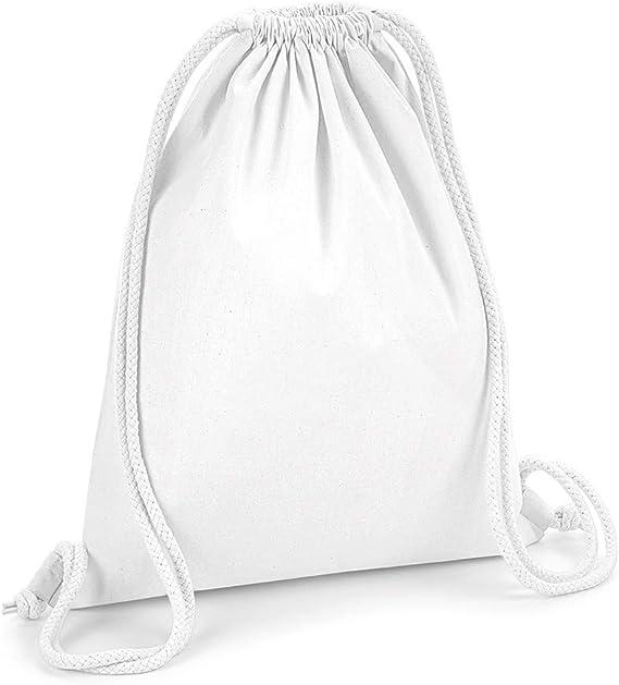 Westford Mill - Mochila saco o de cuerdas de algodón orgánico premium (Tamaño Único) (Blanco): Amazon.es: Ropa y accesorios