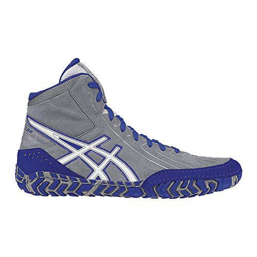 Asics Men's Aggressor 3 Wrestling Shoe, Aluminum/White/Ol...