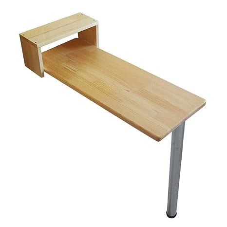 Amazon.com: Mesa YNN barra plegable de madera color hogar ...
