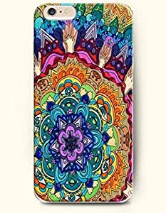 SevenArc Apple iPhone 6 Plus 5.5' 5.5 Inches Case Moroccan Pattern ( Colorful Beautiful Flower )