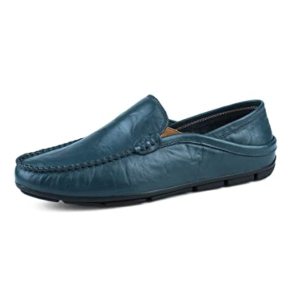 Xiazhi-shoes, Mocasines para Hombres Wave Sole Fashion Slip Suave y súper Ligero para