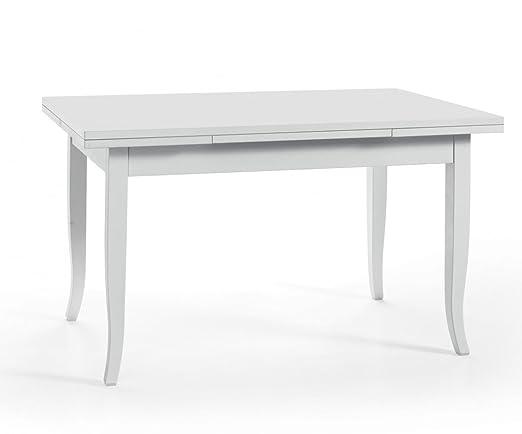 Tavolo Allungabile 120 240.Liberoshopping Tavolo Classico Colore Bianco 120 X 100 Libro