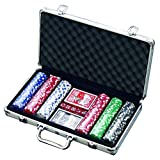 300 Chip Dice Style Poker Set In Aluminum Case 11.5 Gram Chips