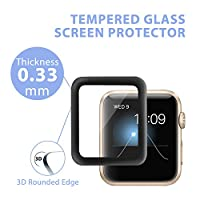 Apple Watch Screen Protector 38mm (Series 1/Series 2),Amoner Tempered Glass Screen Protector[Anti-scratch] [Bubble-free] for Apple Watch 38mm Clear HD Anti-Bubble Film from Amoner
