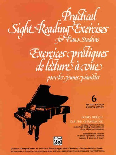 Practical Sight Reading Exercises For Piano Students, Book 6 By Berlin, Boris Published By Alfred Music (2000)