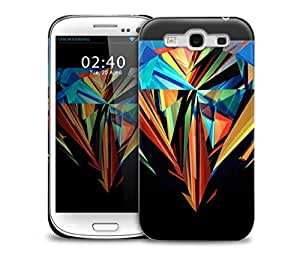 diamond abstract bright colours Samsung Galaxy S3 GS3 protective phone case