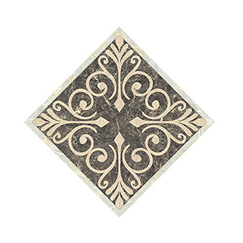 Decorative Tile (H4S Pack of 10pcs 4.72 Inch by 4.72 Inch Peel and Stick Removable Waterproof PVC Decorative Tile Stickers Decals for Ceramic Floor and Wall Tiles, Pattern 3)