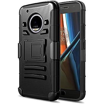 78081c45564 DreamWireless Funda Case con Clip para Motorola Moto G5, Triple Protector  de Plástico para Uso