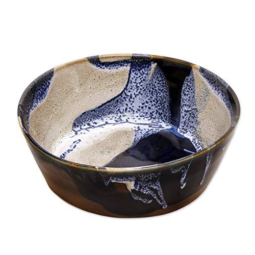 - NOVICA Multicolor Ceramic Handmade Serving Bowls, 67 oz, Ocean Tides'