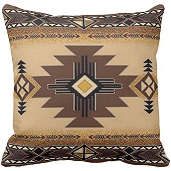 Emvency Throw Pillow Cover Browns Santa Fe Creams South Western Decorative Pillow Case Home Decor Square 18 x 18 Inch Pillowcase