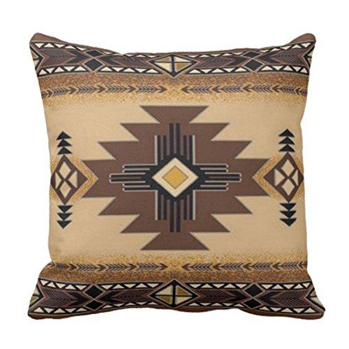 Emvency Throw Pillow Cover Browns Santa Fe Creams South Western Decorative Pillow Case Home Decor Square 18 x 18 Inch Pillowcase (Santa Throw Pillow)