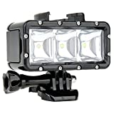 MagiDeal Waterproof Diving Light,High Power Dimmable LED Light Underwater Light for Gopro Hero Xiao Yi with 1200mAh Built-in Rechargeable Battery Charging