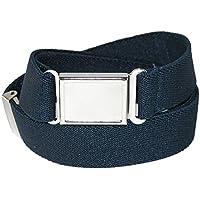 CTM Kids' Elastic Adjustable Belt with Magnetic Buckle (Pack of 3)