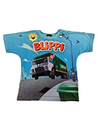 Blippi Child Garbage Truck Shirt for Kids (3T) Blue and Orange