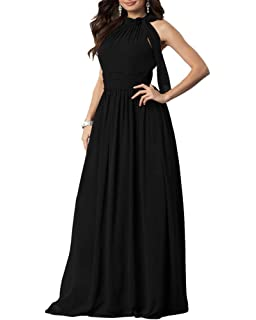 ea63e1c9 Aofur Plus Size Women's Long Sleeve Lace Chiffon Bridesmaid Dresses Prom  Party Evening Dress Long Dress