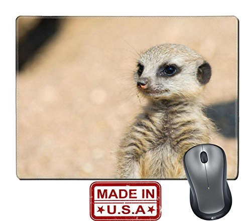 """Liili Natural Rubber Mouse Pad/Mat with Stitched Edges 9.8"""" x 7.9"""" A Meerkat watching out for the group Image ID - Coupons Africa Of Out Discount"""