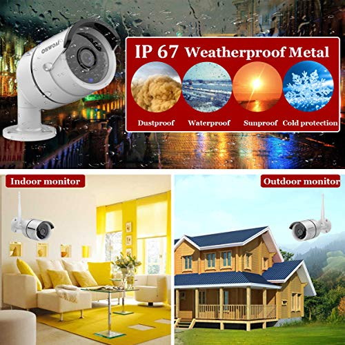 Wireless 8-Channel 1080P Security Camera System with 4pcs 720P Full HD Cameras,Home CCTV Surveillance System,Indoors Outdoors IP Cameras 8CH House WiFi NVR Recorder,1TB Hard Disk Drive Pre-Install