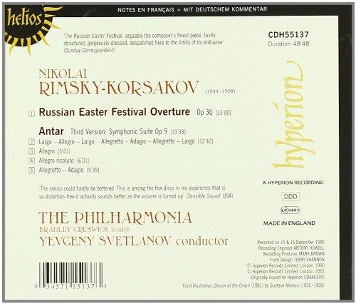Rimsky-Korsakov: Antar, Op. 9 / Russian Easter Festival Overture, Op. 36