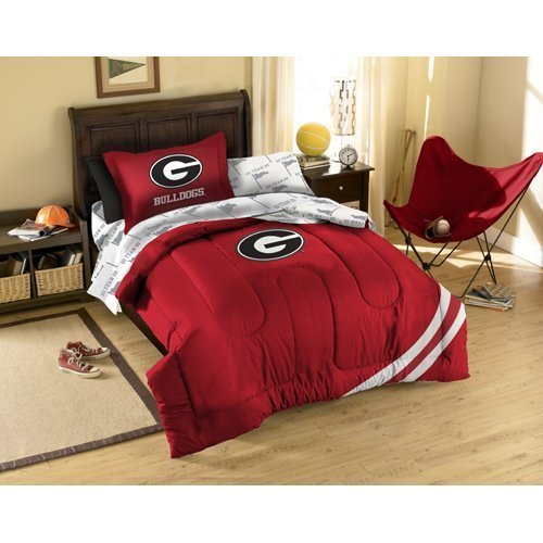 NCAA Georgia Bulldogs Bedding Set, Twin