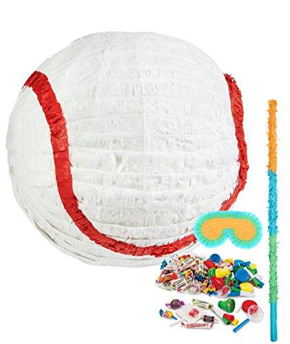 [Baseball Time Party Supplies - Pinata Kit] (Pinata And Bat Costume)