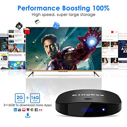 Kingbox Android TV Box 8 1 with 2 4G Voice Remote, K2 S