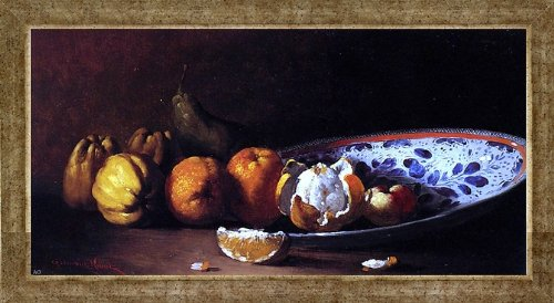 (Art Oyster Germain Clement Ribot Nature Morte AUX Fruits - 14.1