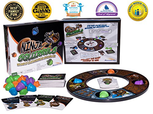 Ninja Squirrels Family Board Game Fun Toy for All Ages Kid