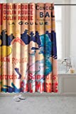 "Henri Toulouse-Lautrec's ""Moulin Rouge"" 100% Polyester Fabric Shower Curtain is water repellent and comes complete with rust proof metal grommets. Part of our ""Museum Collection"", this timeless master piece will be sure to add style and panache to an..."