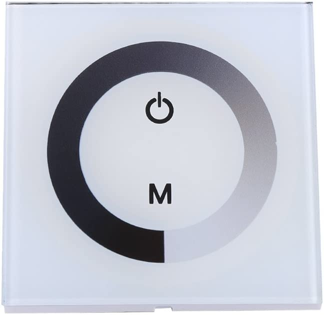 DC12-24V Panel De Control Táctil De Pared Panel De Control LED Interruptor De Regulador Cambio De Brillo Para La Luz De Tira LED ( Color : White )