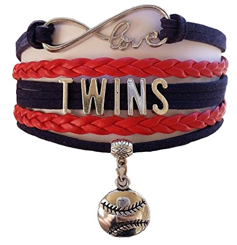 Minnesota Twins Charm (Twins Multi Strand Leather Like Team Charm Bracelet by Got To Have This)