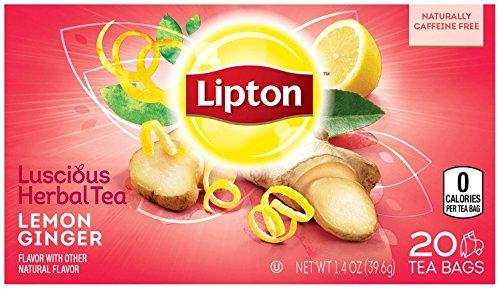 Lipton Herbal Tea - Lemon Ginger - 20 ct