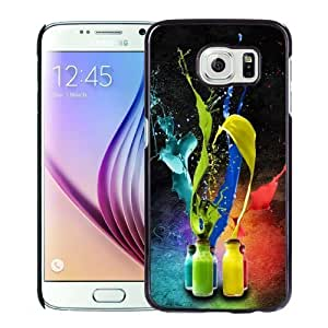 New Personalized Custom Designed For Samsung Galaxy S6 Phone Case For Colorful Paint Splash Phone Case Cover