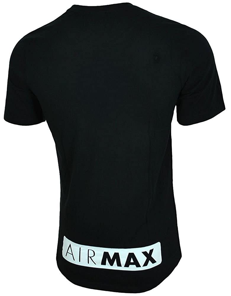 986cf60179cd MENS BRAND NEW NIKE AIR MAX TSHIRT CREW NECK IN BLACK BLUE WHITE COLOURS S  TO XL  Amazon.co.uk  Clothing