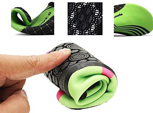 Gemeinsame Creating Wasser Schuhe für Männer Frauen, Männer Strand Schuhe Aqua Socken Surf Schuhe Barfuß Schwimmen Schuhe für Pool Surf Reisen Wasserpark Grün